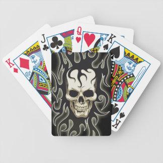 Naipes góticos esqueléticos cartas de juego