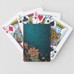 Naipes grabados de los Wildflowers Baraja Cartas De Poker
