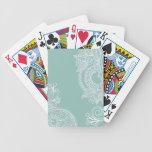 Naipes grabados en relieve de Paisley Baraja Cartas De Poker