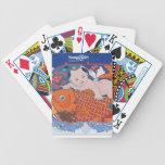 Naipes grandes de los pescados baraja de cartas