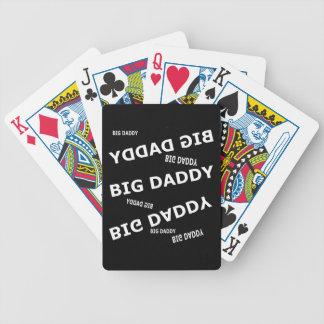 Naipes grandes del papá cartas de juego