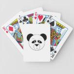 Naipes gruñones de la panda cartas de juego