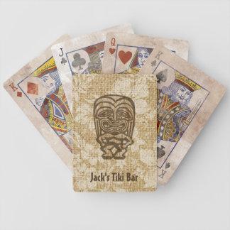 Naipes hawaianos de la barra de Ku-Tiki Tiki Baraja Cartas De Poker