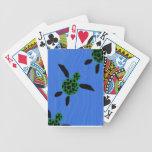 Naipes hawaianos de la tortuga de mar barajas de cartas