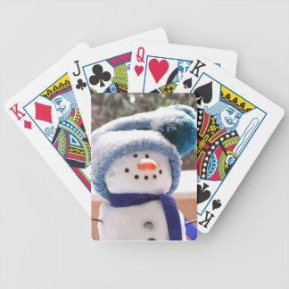 Naipes hechos a mano adorables del muñeco de nieve baraja cartas de poker