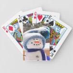 Naipes hechos a mano adorables del muñeco de nieve cartas de juego