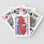 Naipes hechos americanos del coche del músculo cartas de juego