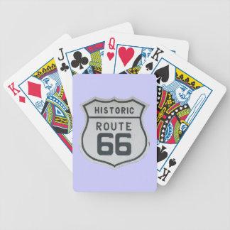 Naipes históricos de la muestra de la ruta 66 baraja