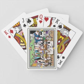 """Naipes ilustrados """"del juego de póker del oeste"""