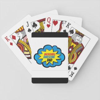 Naipes impresionantes increíbles del papá barajas de cartas