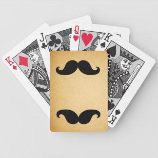 Naipes impresos bigote negro del papel del vintage barajas