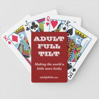 Naipes inclinables llenos adultos barajas de cartas