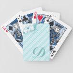 Naipes iniciales de los pájaros del amor barajas de cartas