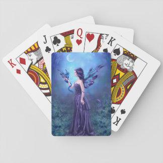 Naipes iridiscentes del arte de la hada y del drag barajas de cartas