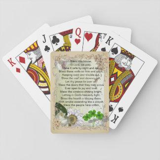 Naipes irlandeses de la bendición de la casa barajas de cartas