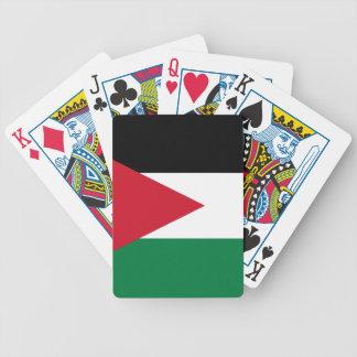 Naipes jordanos de la bandera cartas de juego