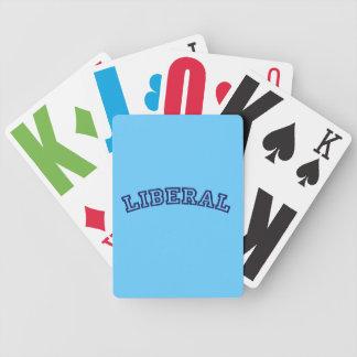 Naipes liberales cartas de juego