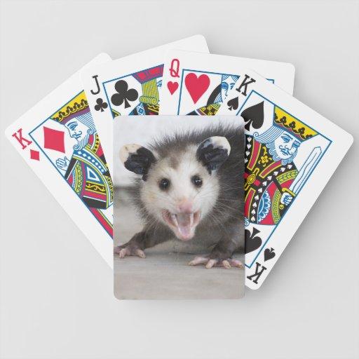 Naipes lindos de la foto del oposum del bebé barajas de cartas