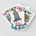 Naipes lindos del gráfico del muñeco de nieve cartas de juego