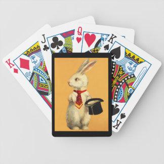 Naipes mágicos del diseño del acto del conejo de c barajas