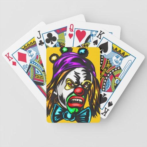 Naipes malvados del payaso baraja cartas de poker
