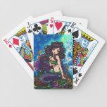 Naipes marinos del arte de la fantasía de la siren baraja cartas de poker