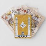 Naipes masónicos baraja cartas de poker