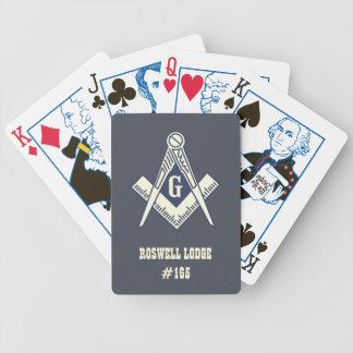 Naipes masónicos de los fundadores baraja cartas de poker