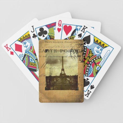 Naipes matasellados de París Baraja Cartas De Poker