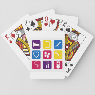 Naipes médicos de los iconos barajas de cartas