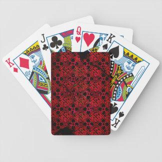 Naipes medievales rojos de la impresión del Grunge Baraja Cartas De Poker