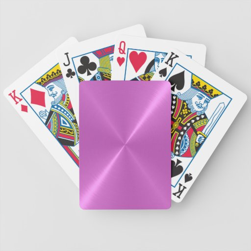 Naipes metálicos brillantes inoxidables violetas f barajas de cartas