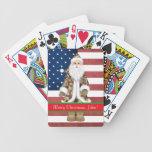 Naipes militares de encargo del navidad cartas de juego