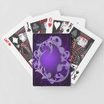 Naipes místicos de la púrpura del dragón baraja cartas de poker