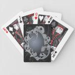 Naipes místicos del negro del dragón baraja de cartas