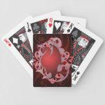 Naipes místicos del rojo del dragón baraja de cartas