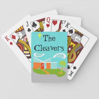 Naipes modernos de la casa del dibujo animado de barajas de cartas