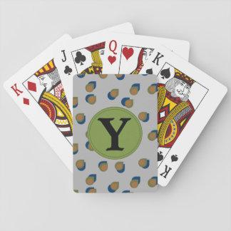 Naipes modernos de la letra de descensos barajas de cartas