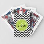 Naipes modernos del galón del negro del regalo del barajas de cartas