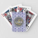 Naipes modernos del trullo de los azules marinos d baraja de cartas