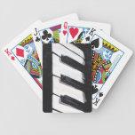 Naipes musicales del teclado de piano baraja cartas de poker