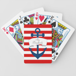 Naipes náuticos del ancla baraja de cartas