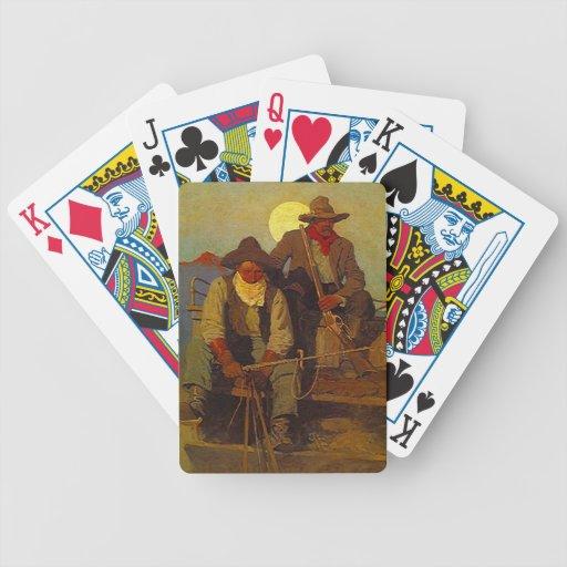 Naipes occidentales del póker de la escopeta del m cartas de juego