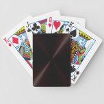 Naipes oscuros cepillados del metal baraja cartas de poker