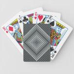 Naipes oscuros del diamante cartas de juego