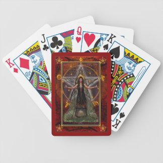Naipes paganos - bruja de Spellweaver - rojo Baraja Cartas De Poker