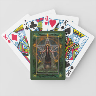 Naipes paganos - bruja de Spellweaver - verde Barajas De Cartas
