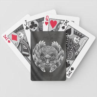 Naipes paganos del espolón baraja de cartas