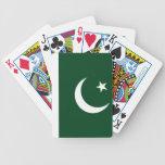 Naipes paquistaníes de la bandera barajas de cartas