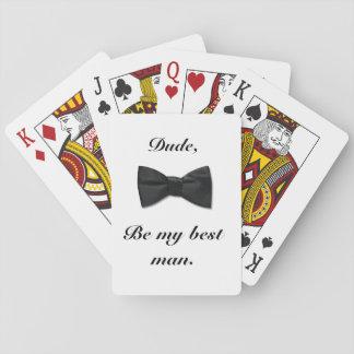Naipes para el mejor hombre barajas de cartas